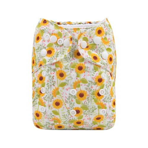 Alva Baby Sunflowers Print Modern Cloth Nappy