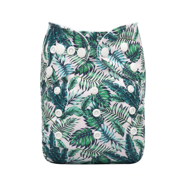 Alva Baby Lush Greenery Print Modern Cloth Nappy