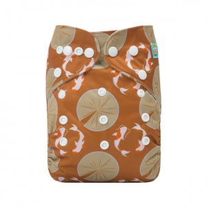 Alva Baby Koi Pond Print Modern Cloth Nappy