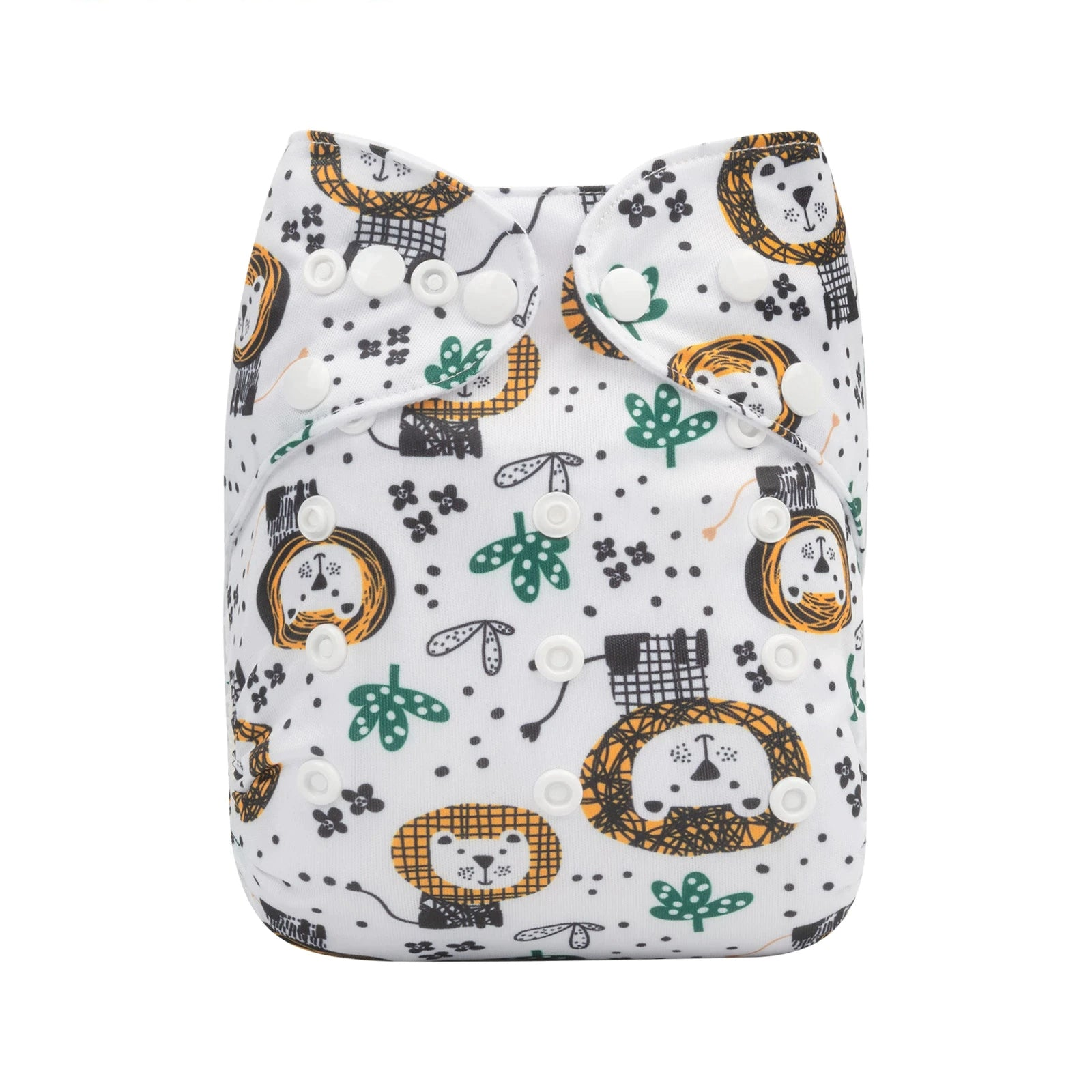 Alva Baby Abstract Lions Print Modern Cloth Nappy