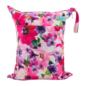 Alva Baby Floral Print Medium Double Zip Wet Bag
