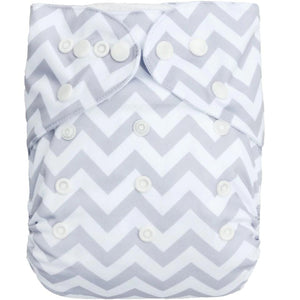 Alva Baby Grey Chevron Print Modern Cloth Nappy