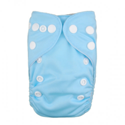 Alva Baby Solid Sky Blue Newborn Prem Modern Cloth Nappy
