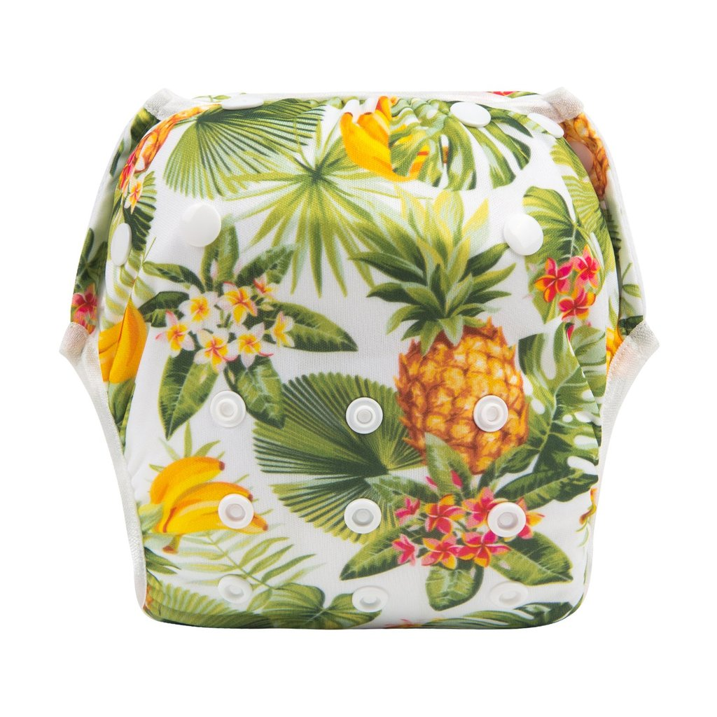 Alva Baby Tropical Print Modern Cloth Swim Nappy