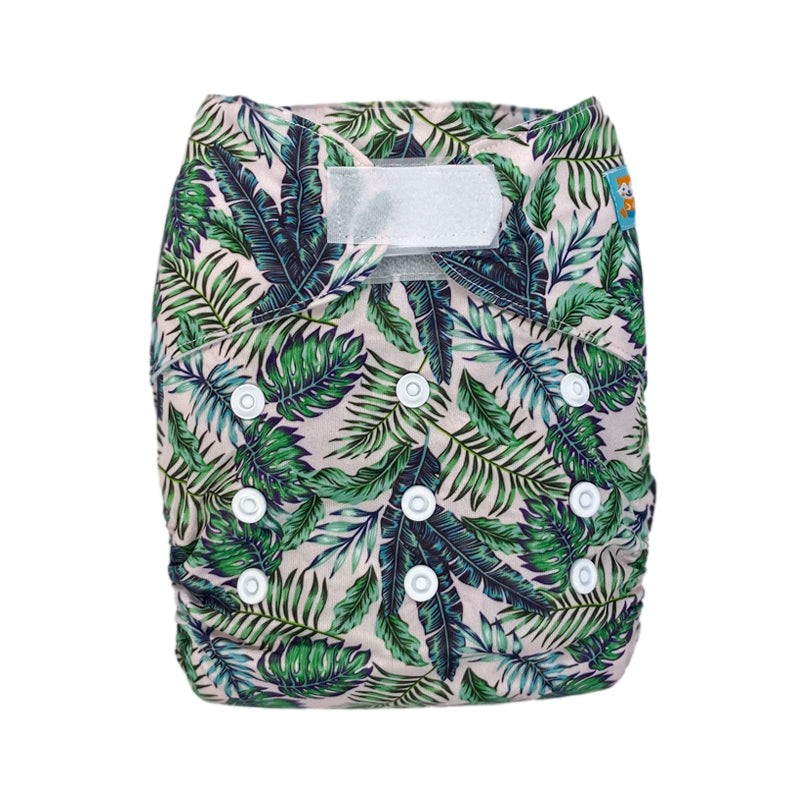 Alva Baby Lush Greenery Print Hook And Loop Modern Cloth Nappy