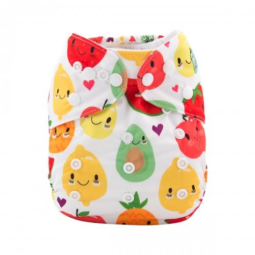 Alva Baby Fruit Salad Premium Print Modern Cloth Nappy