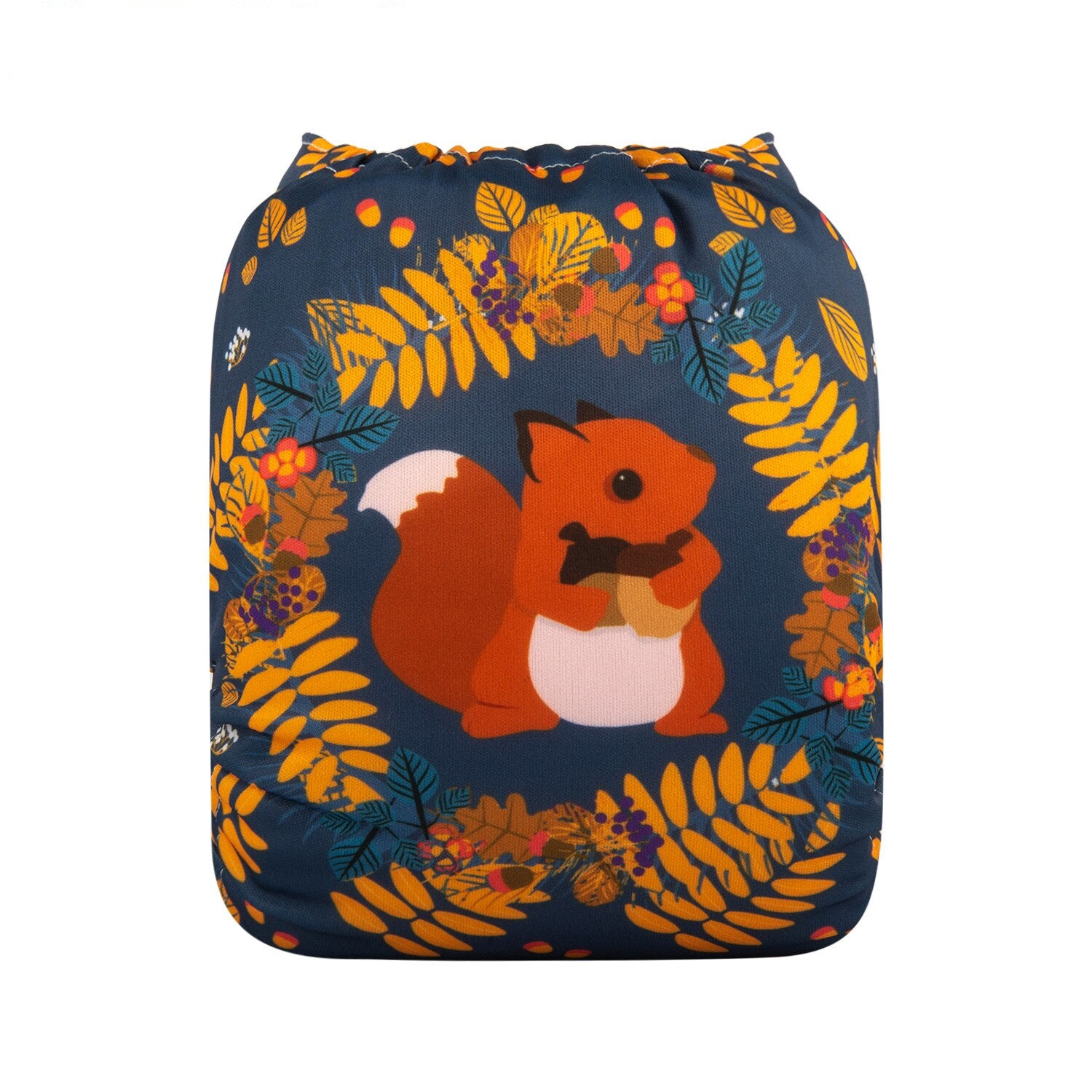 Alva Baby Squirrel Premium Print Modern Cloth Nappy