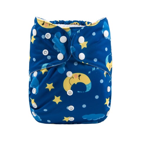 Alva Baby Starry Night Print Big Junior XL Modern Cloth Nappy
