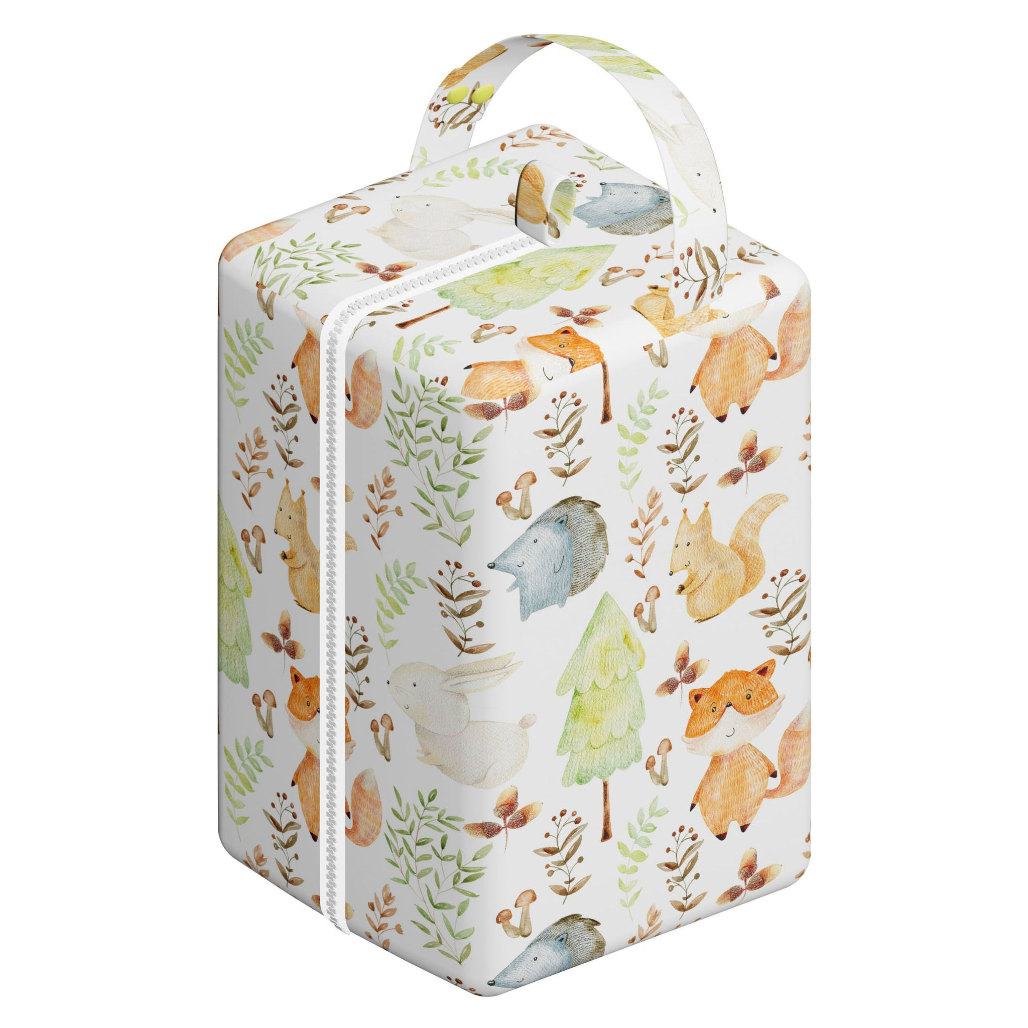 Nappy Box Co Enchanted Woodlands Print Nappy Pod Zip Wet Bag