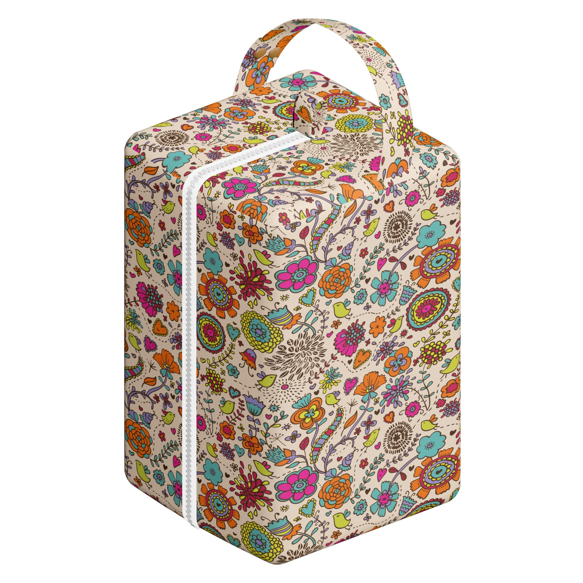 Nappy Box Co Funky Floral Print Nappy Pod Zip Wet Bag