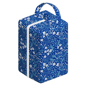 Nappy Box Co Blue Floral Print Nappy Pod Zip Wet Bag
