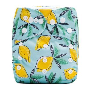 Lulu & Finn Lemons Print Modern Cloth Nappy