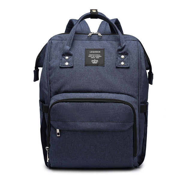 LeQueen Navy Deluxe Multi-Functional Nappy Bag Backpack