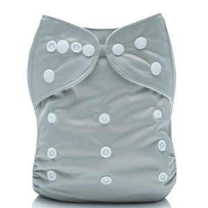Lulu & Finn Solid Grey Modern Cloth Nappy