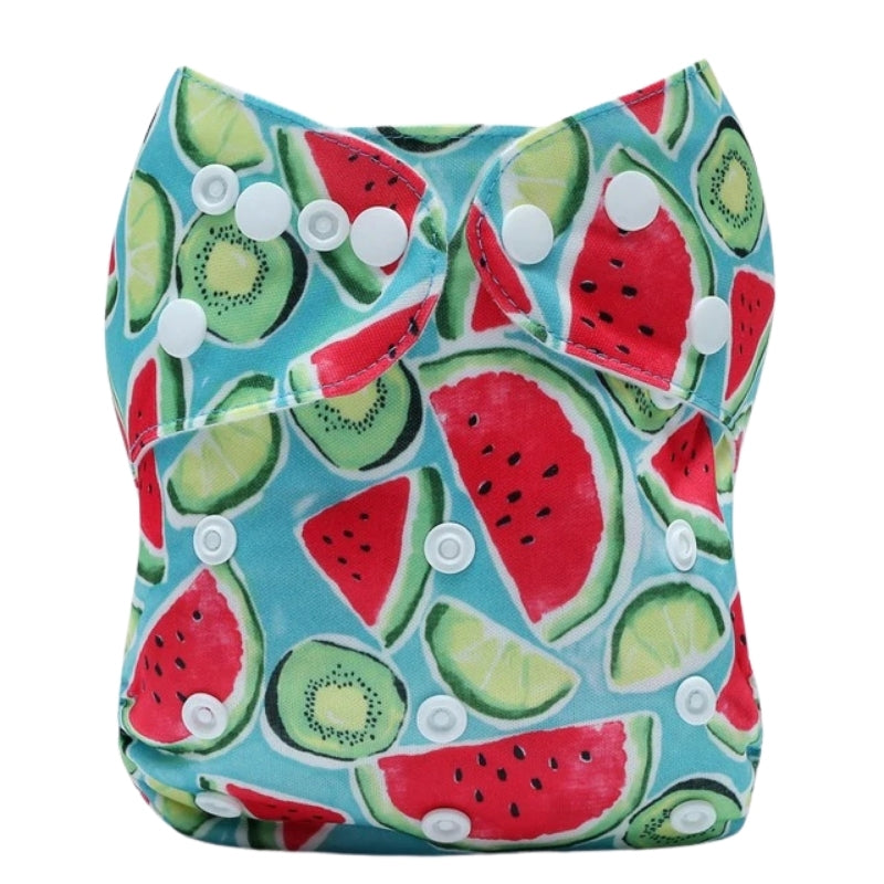 Lulu & Finn Watermelon Punch Print Modern Cloth Nappy
