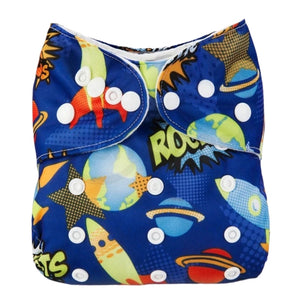 Lulu & Finn Space Voyage Print Modern Cloth Nappy