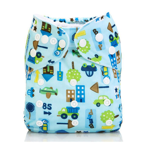 Lulu & Finn About Town Print Modern Cloth Nappy