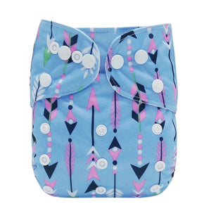 Lulu & Finn Vibrant Tribal Arrows Print Modern Cloth Nappy