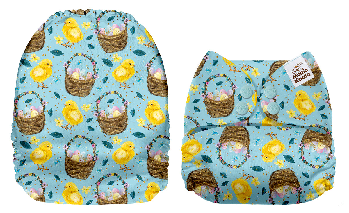 Mama Koala Easter Eggs & Chicks Print Modern Cloth Nappy