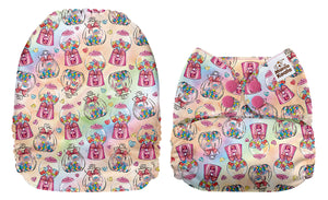 Mama Koala Lollies Print Modern Cloth Nappy