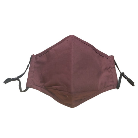 Nappy Box Co Burgundy Reusable & Washable 3 Layer Fabric Face Mask PM2.5