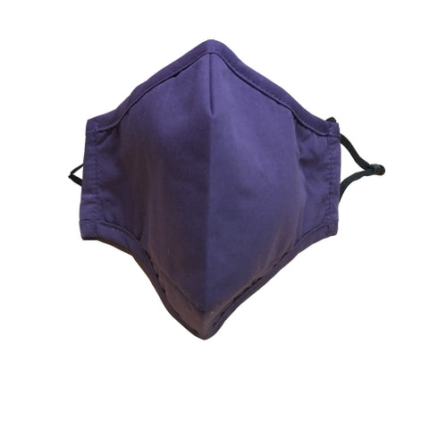 Nappy Box Co Purple Reusable & Washable 3 Layer Fabric Face Mask PM2.5
