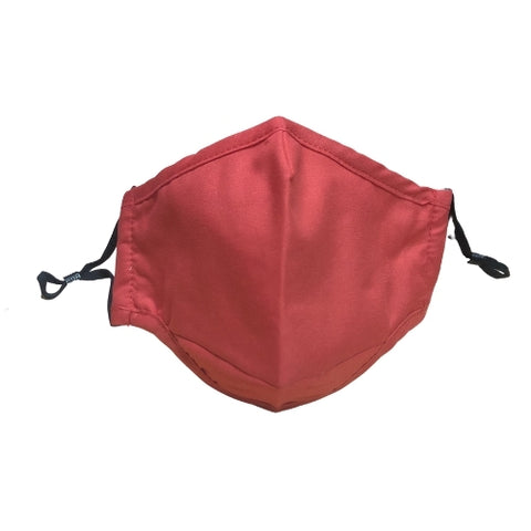 Nappy Box Co Red Reusable & Washable 3 Layer Fabric Face Mask PM2.5
