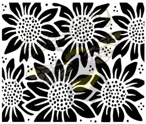 Sunflower Tooled Leather Pattern