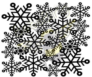 SNOWFLAKE TOOLED LEATHER STENCIL (I CUT AND SEND TO YOU)