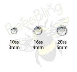 Whiteout Glass Rhinestone 3mm-5mm You Choose Size