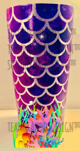 30 OZ MERMAID SCALE WRAP FOR OZARK TUMBLER