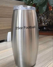 Load image into Gallery viewer, 25oz Football Wine BeesBling Blank