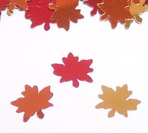 FALL LEAF SHAPE GLITTER
