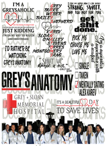 Fan Cup Waterslide Digital - Greys Anatomy