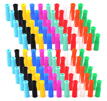 Load image into Gallery viewer, Silicone Straw Tips 5 pack (random colors)