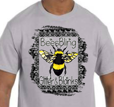 BEESBLING GLITTER AND BLANKS UNISEX TEE