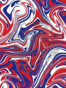 Marble Paint Waterslide - Red/White/Blue