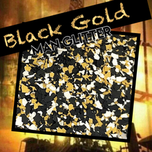 Load image into Gallery viewer, Black Gold - man glitter