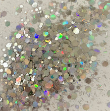Load image into Gallery viewer, Silver Slipper holo chunky mix