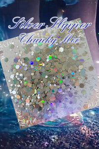 Silver Slipper holo chunky mix