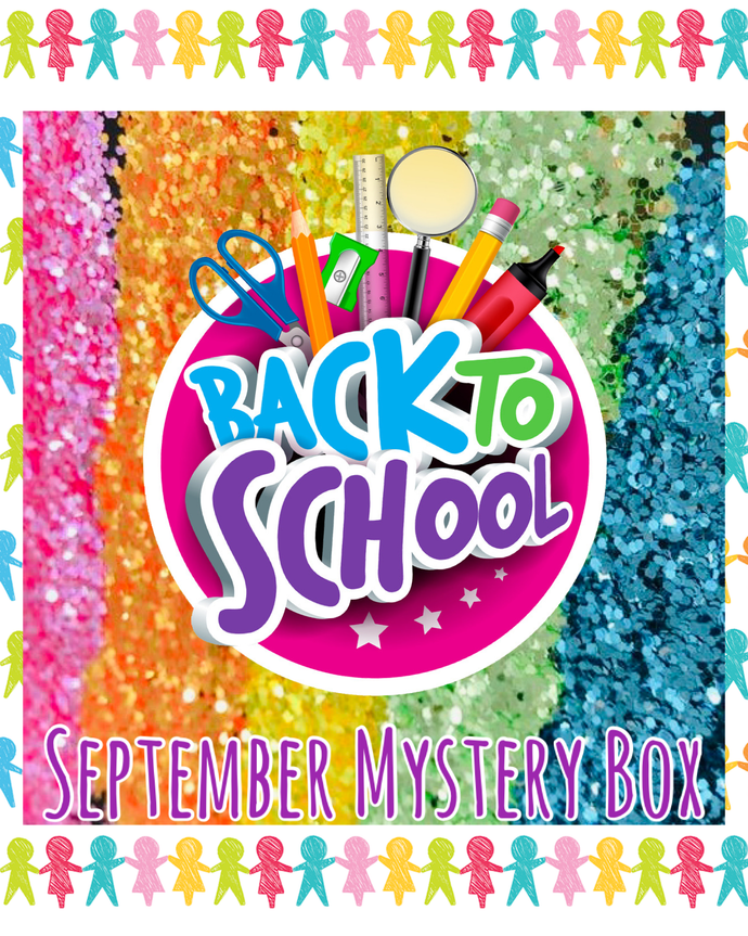 🎒BACK TO SCHOOL🎒 GLITTER SEPTEMBER MYSTERY BOX!
