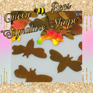 QUEEN BEE our signature shape Glitter