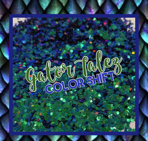 Gator Tailz -Chameleon Color Shift Dot Mix Poly Glitter