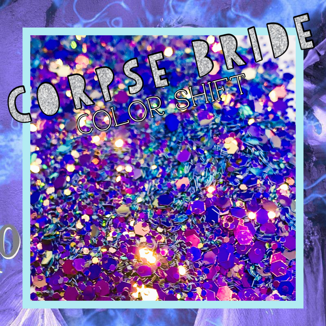 CORPSE BRIDE- Chameleon Color Shift Chunky Mix Poly Glitter