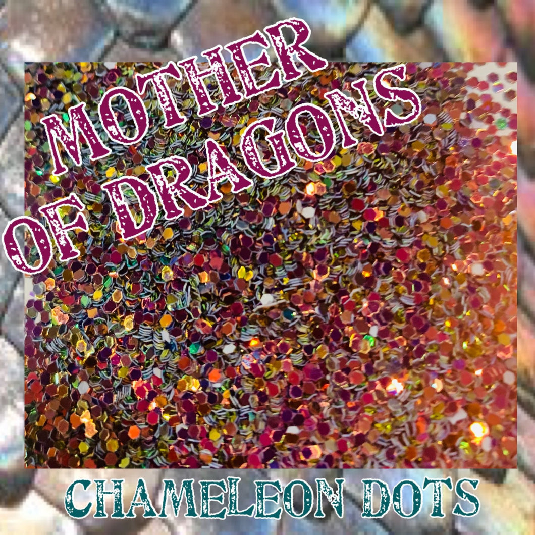 Mother Of Dragons-Chameleon Color Shift Dot Mix Poly Glitter