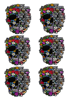 SUGAR SKULL QUOTE Waterslide images