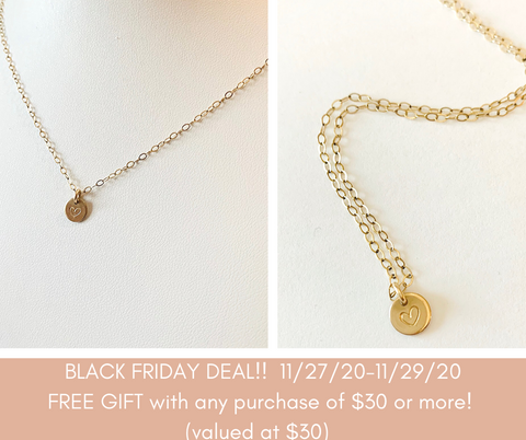 Free GIFT for Black Friday of gold heart necklace