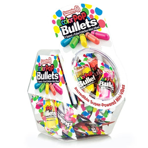 Screaming O Colorpop Bullets - 40 Count Fishbowl - Assorted Colors - Adultys.com