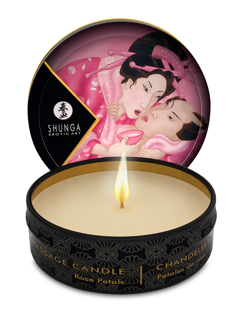 Mini Massage Candle - Aphrodisia - Roses Petals -  1 Fl. Oz. - Adultys.com