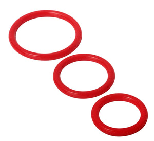 Trinity Silicone Cock Rings - Red - Adultys.com